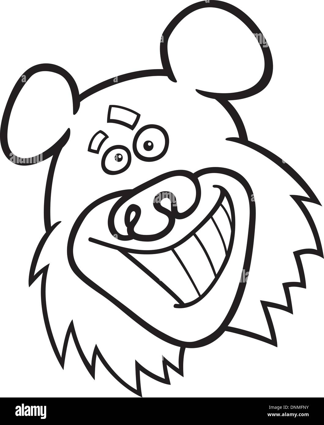 cartoon illustration of funny bear for coloring book Stock Vector ...
