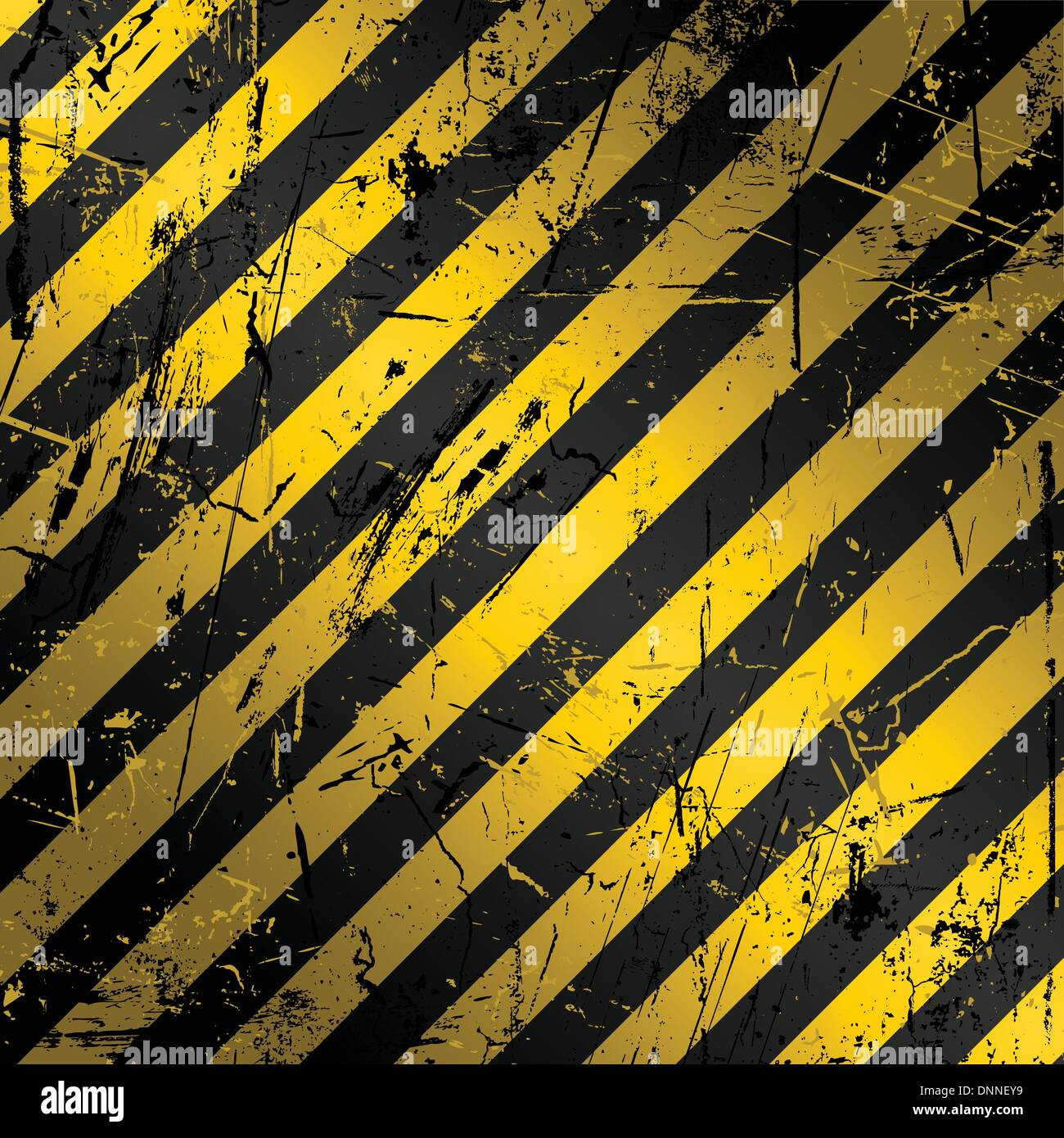 Textured grunge construction background in yellow and black - Stock Image