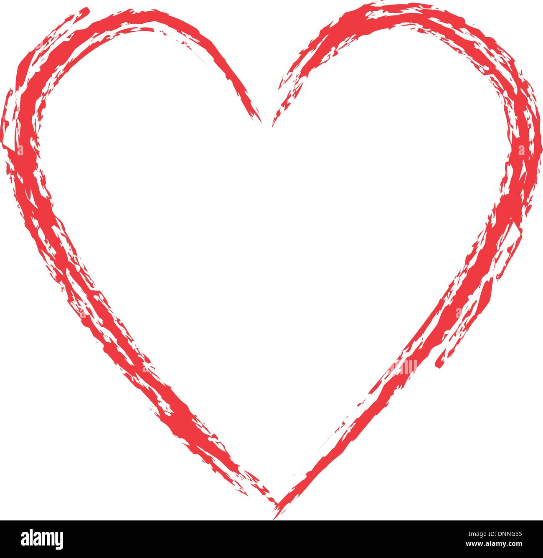 Grunge style heart Stock Vector