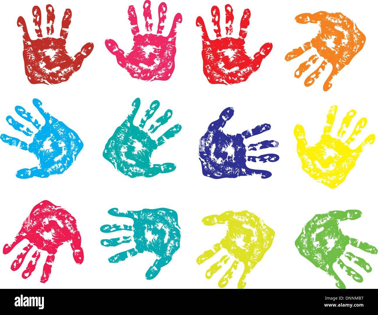vector scaned fingerprint - Stock Image