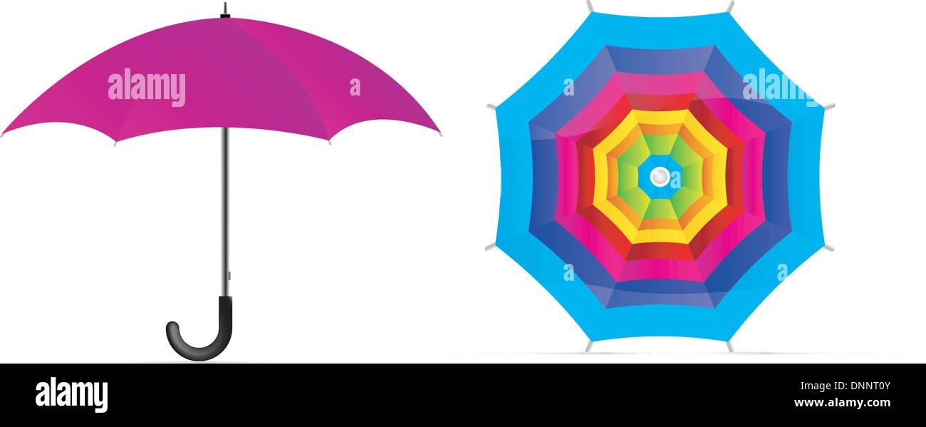 Vector umbrella - Stock Image