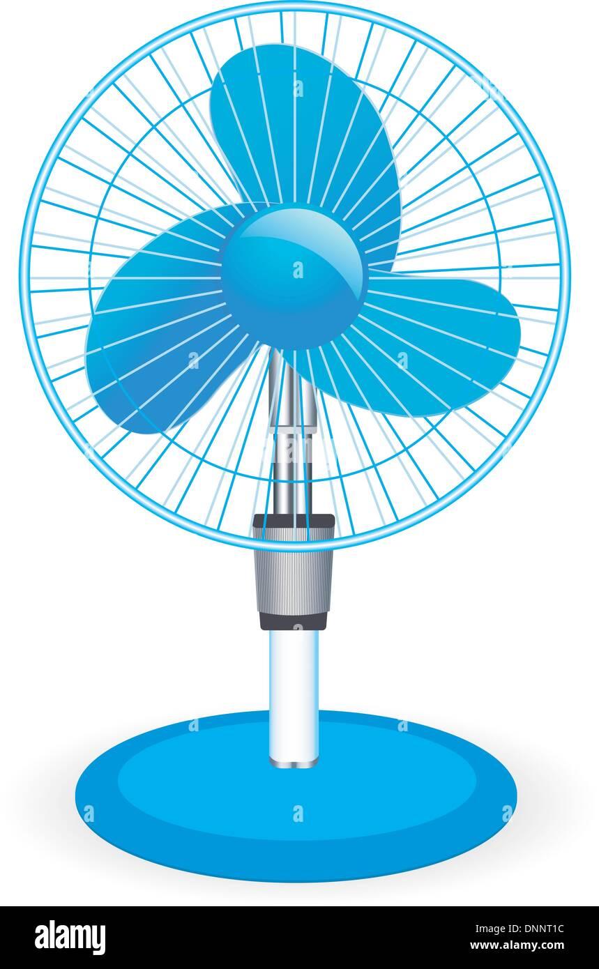 table fan - vector illustration - Stock Image
