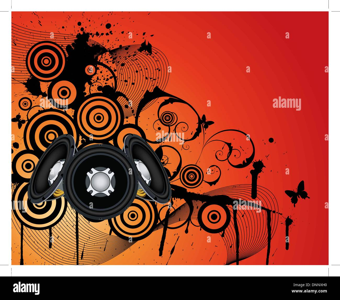 Musical grunge background. EPS 10 vectorillustration wthout transparency. - Stock Image