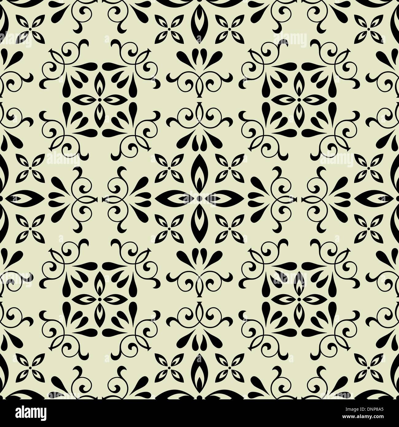 art vector seamless vintage pattern background - Stock Image
