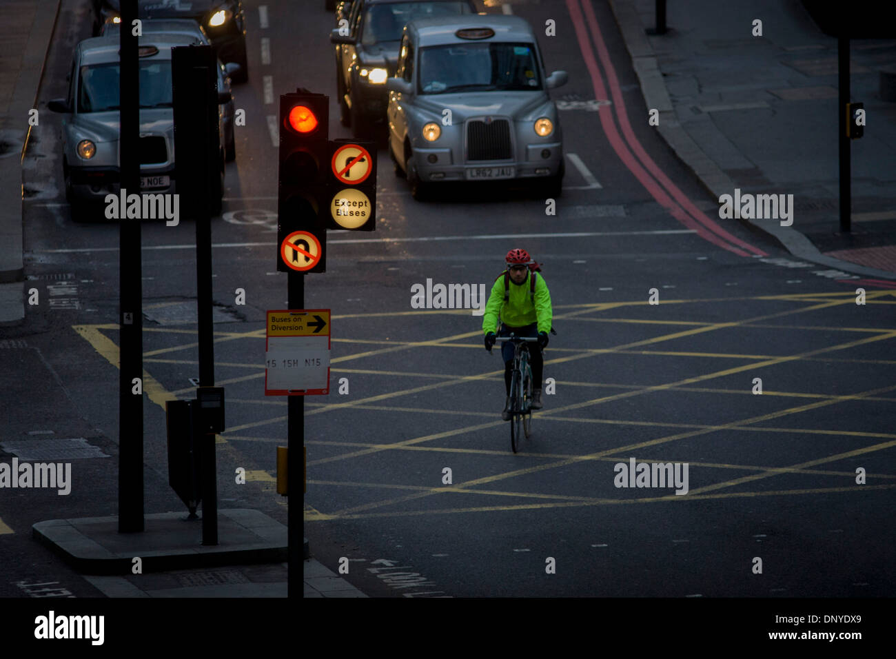 a-cyclist-crosses-a-box-junction-on-a-re
