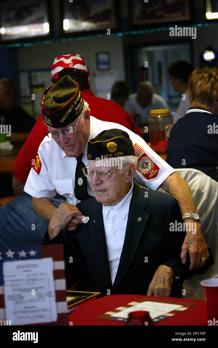 Apr 22, 2006; Lake Worth, FL, USA; American Legion Post 47: During a 'Appreciation Day Ceremony' at American - Stock Image