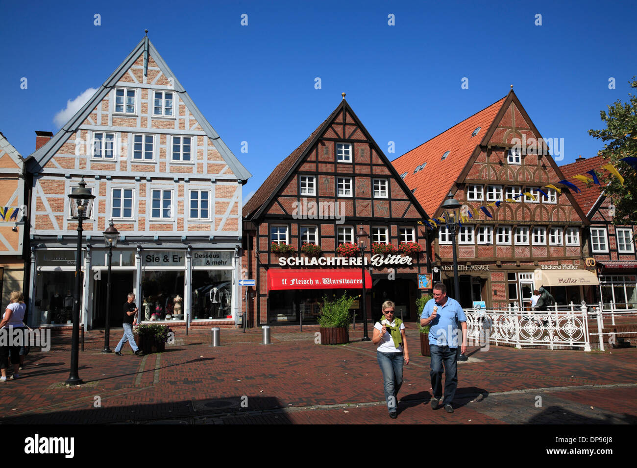 old houses in buxtehude altes land area lower saxony germany stock photo 65356320 alamy. Black Bedroom Furniture Sets. Home Design Ideas