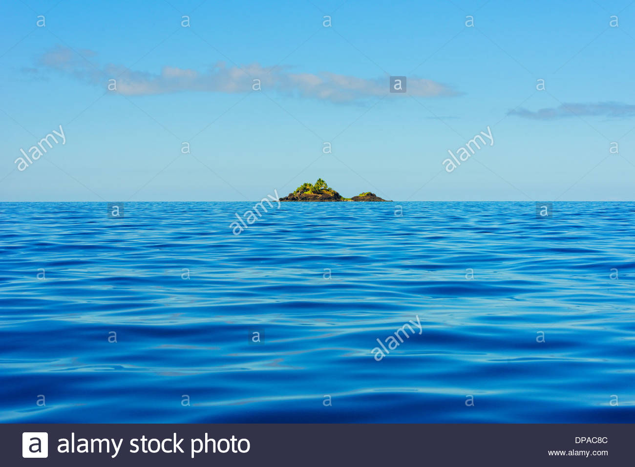 Atoll, Yasawa island group, Fiji, South Pacific - Stock Image