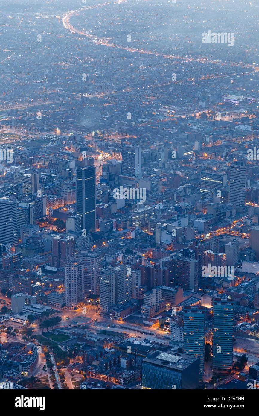 View of Bogota, Monserrate, Bogota, Colombia, America - Stock Image