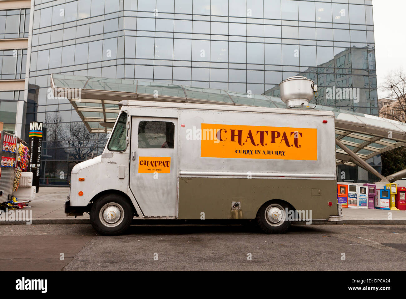 Indian curry food truck - USA - Stock Image