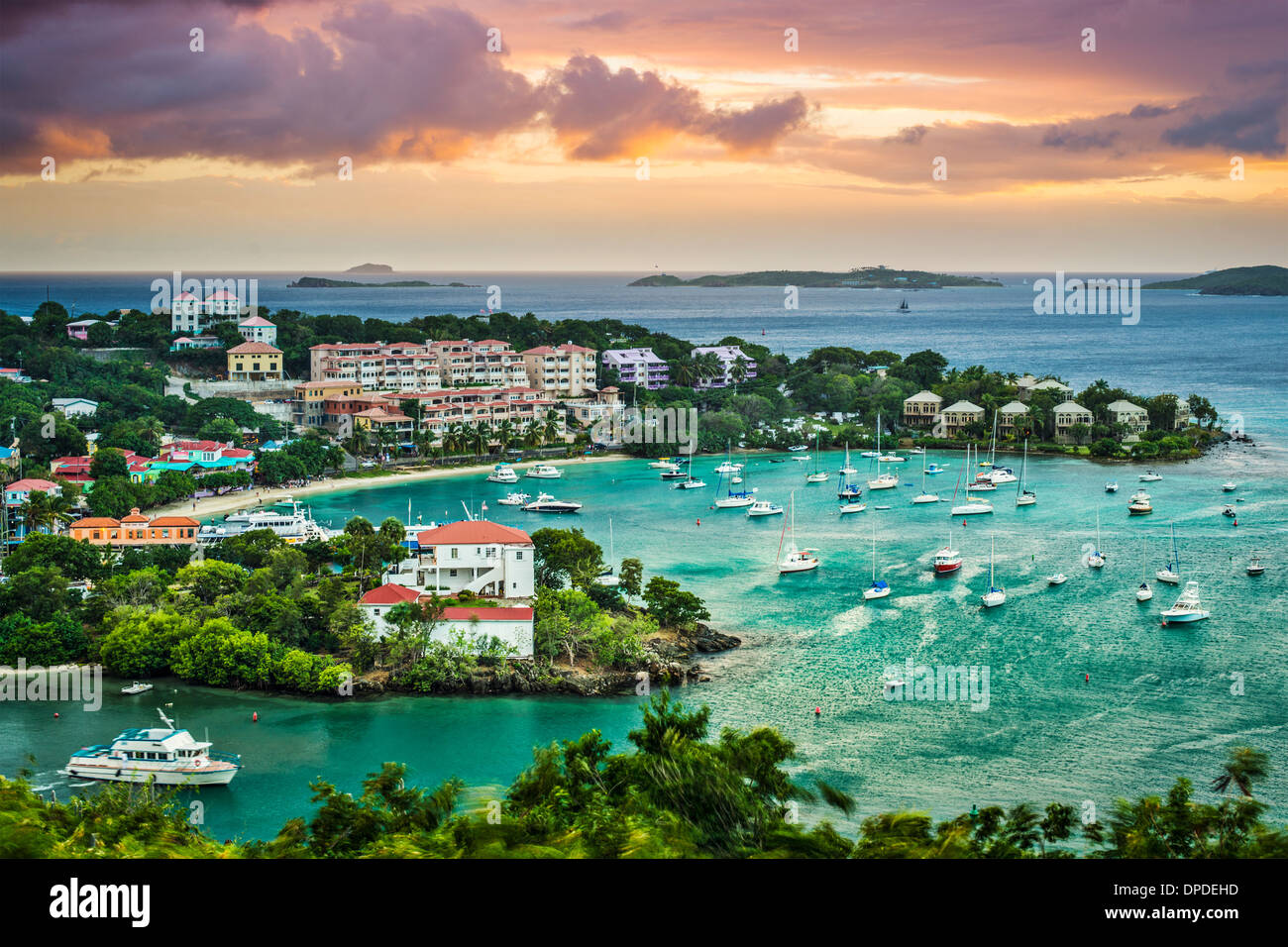 Cruz Bay, St John, United States Virgin Islands. - Stock Image
