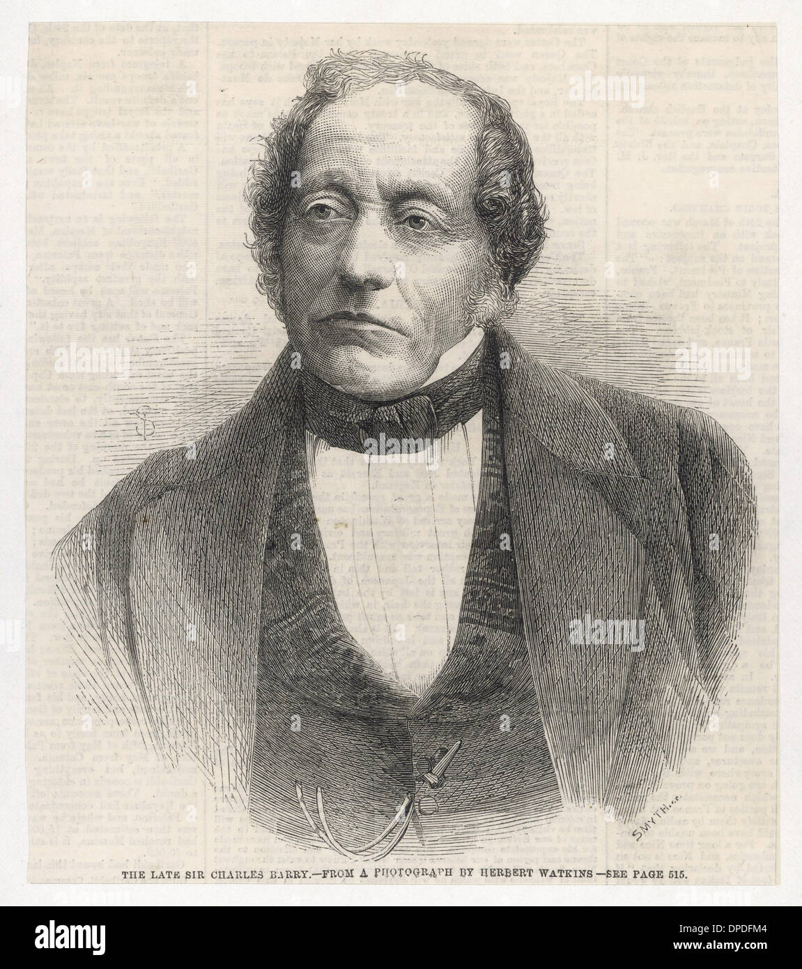 Sir Charles Barry - Stock Image