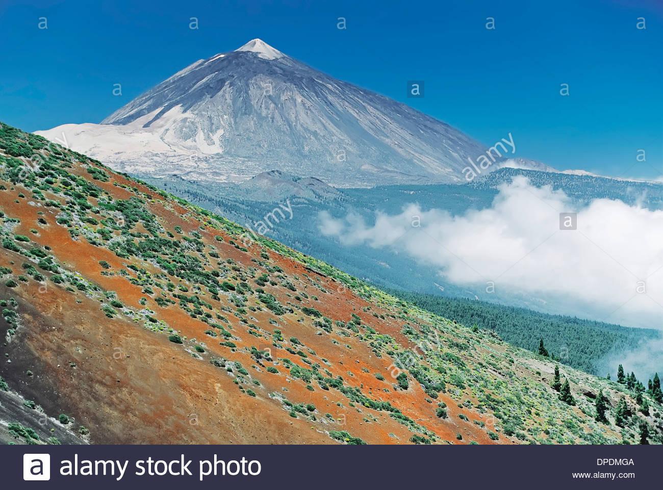 Teide mountain, Tenerife, Canary Islands, Spain - Stock Image
