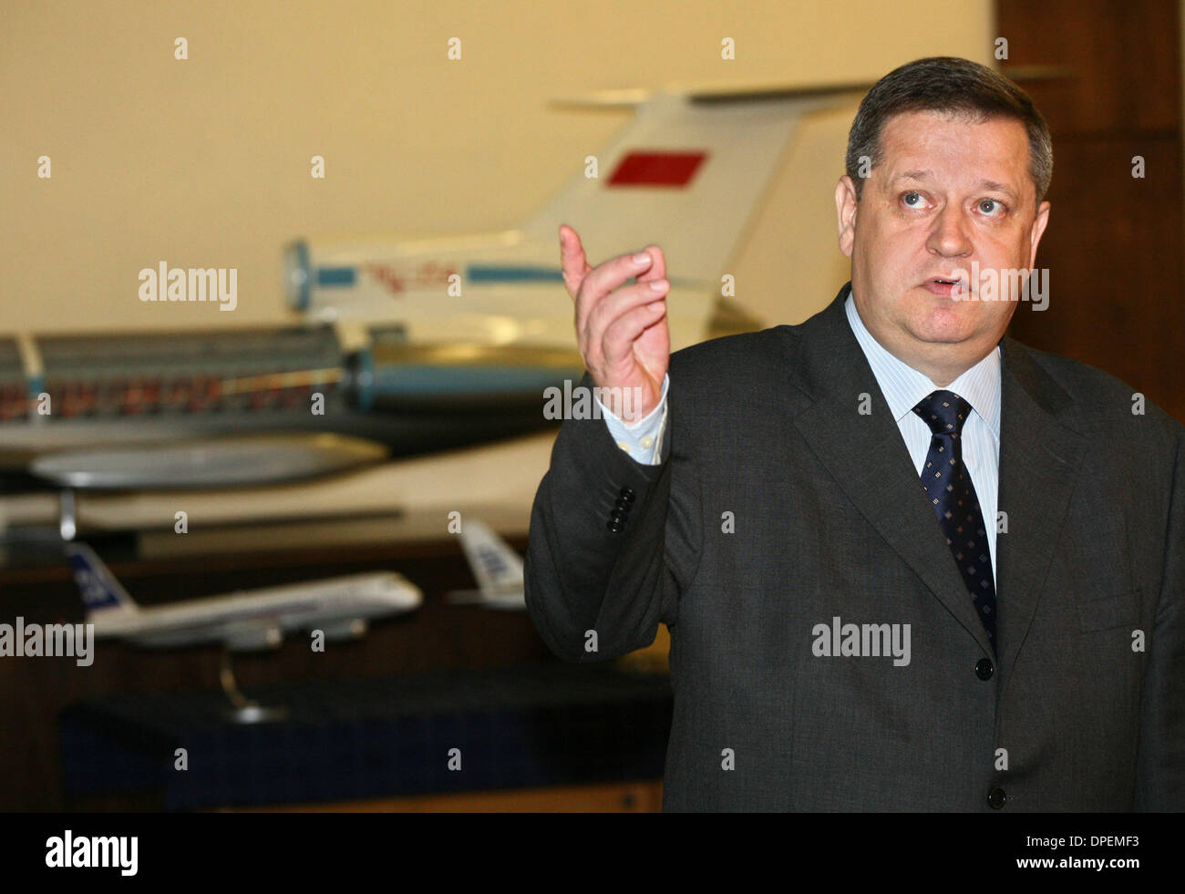 Jun 06, 2006 - Moscow, Russia - Tupolev, the Russian aerospace and defence company, founded in 1922. The Russian - Stock Image