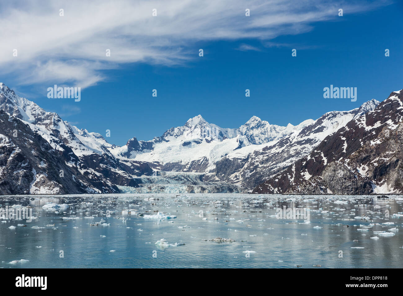 Johns Hopkins Inlet, Glacier Bay, Alaska. - Stock Image