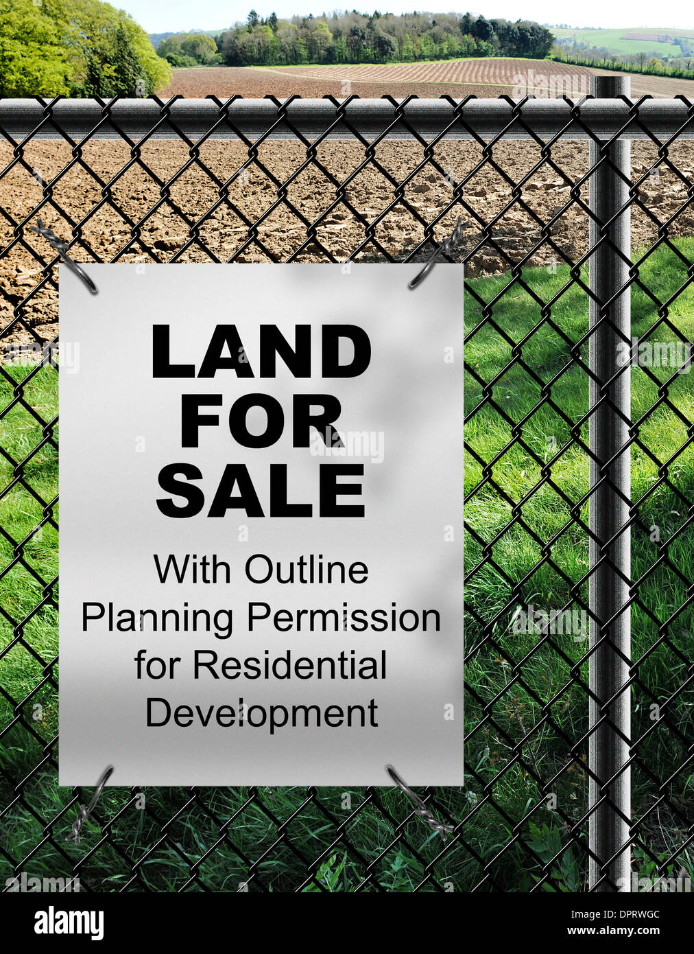 land for sale with outline planning permission for residential stock rh alamy com Electrical Wiring Diagrams For Dummies residential electrical wire for sale