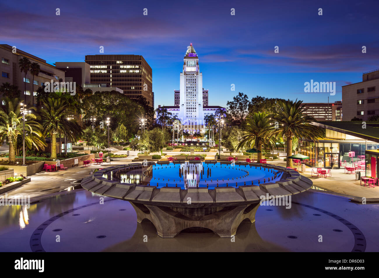 Los Angeles, California at City Hall. - Stock Image
