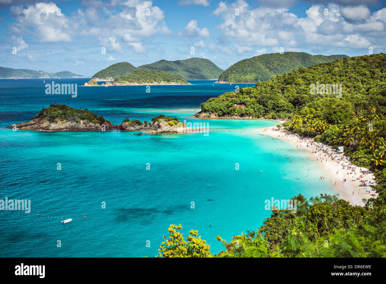Trunk Bay, St John, United States Virgin Islands. - Stock Image