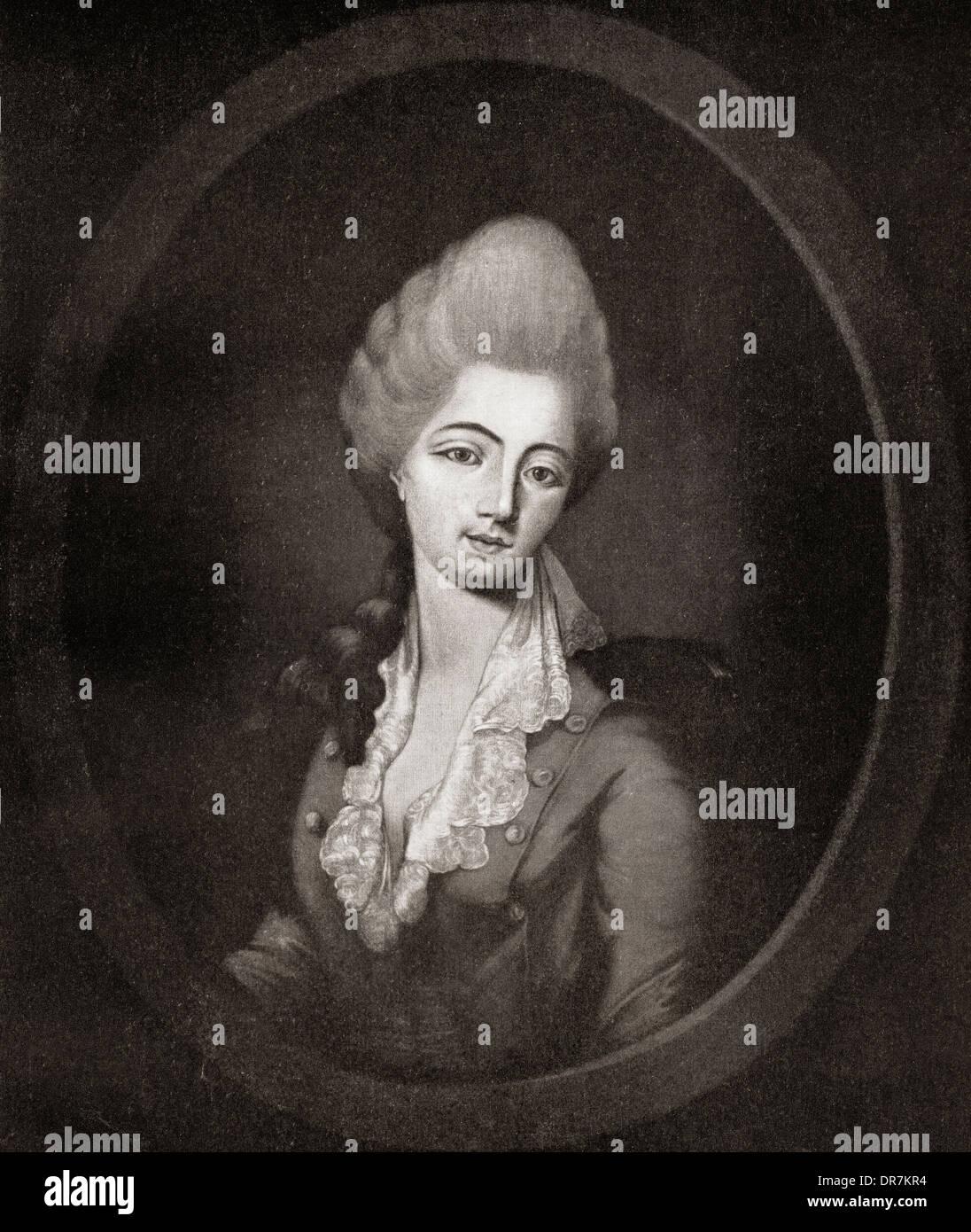 Jeanne Bécu, comtesse du Barry aka Madame du Barry, 1743 – 1793. - Stock Image