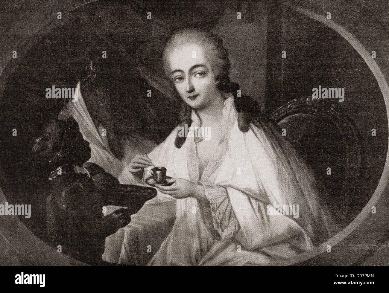 Jeanne Bécu, comtesse du Barry aka Madame du Barry, 1743 – 1793, after Auguste de Creuse. - Stock Image