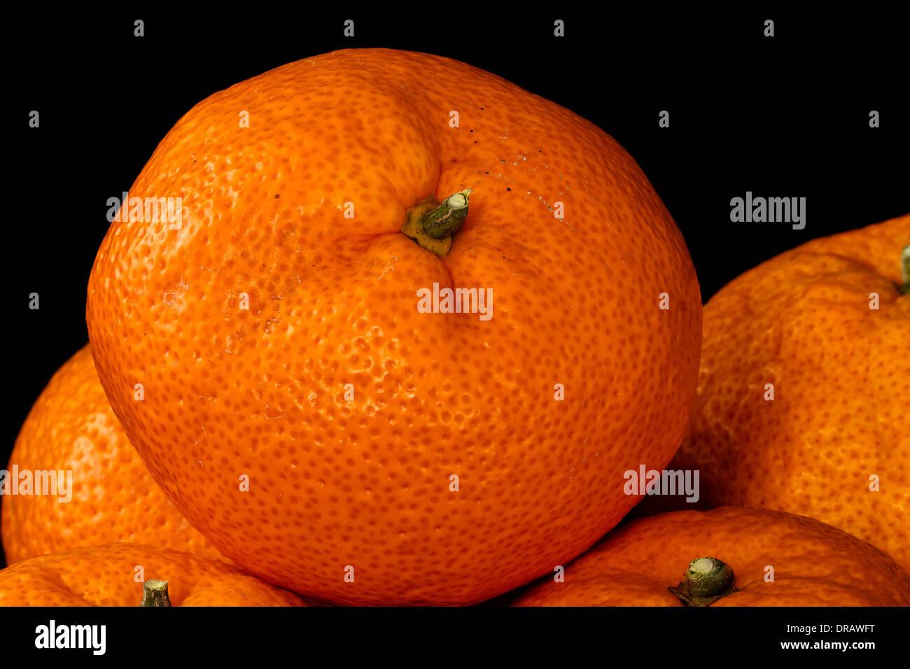 Fresh Mandarin Orange - Stock Image