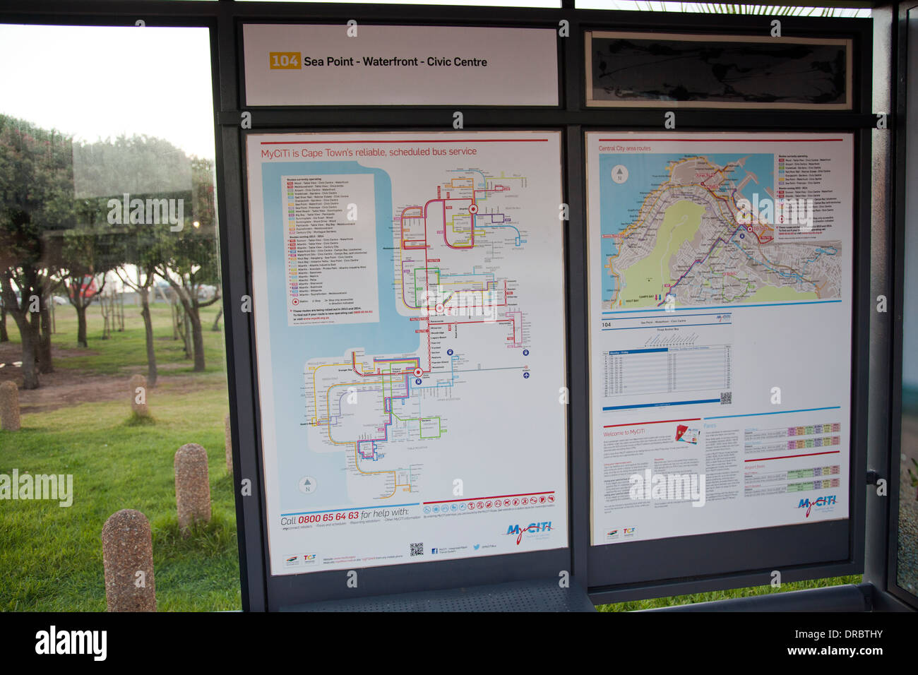 MyCiti is Cape Towns new Bus Service Bus stop in Mouille Point