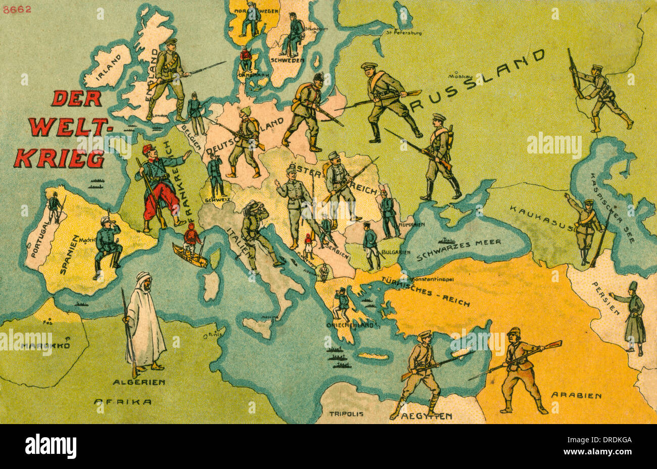 World war one combatants map of europe stock photo 66068922 alamy world war one combatants map of europe gumiabroncs Image collections
