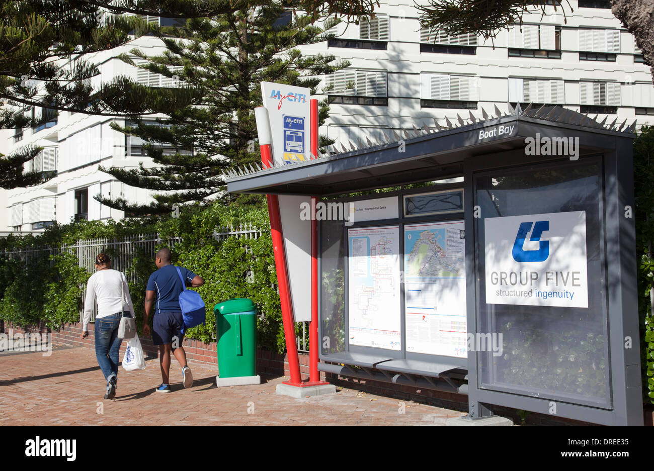 MyCiti Busstop in sea Point Cape Town South Africa Stock Photo