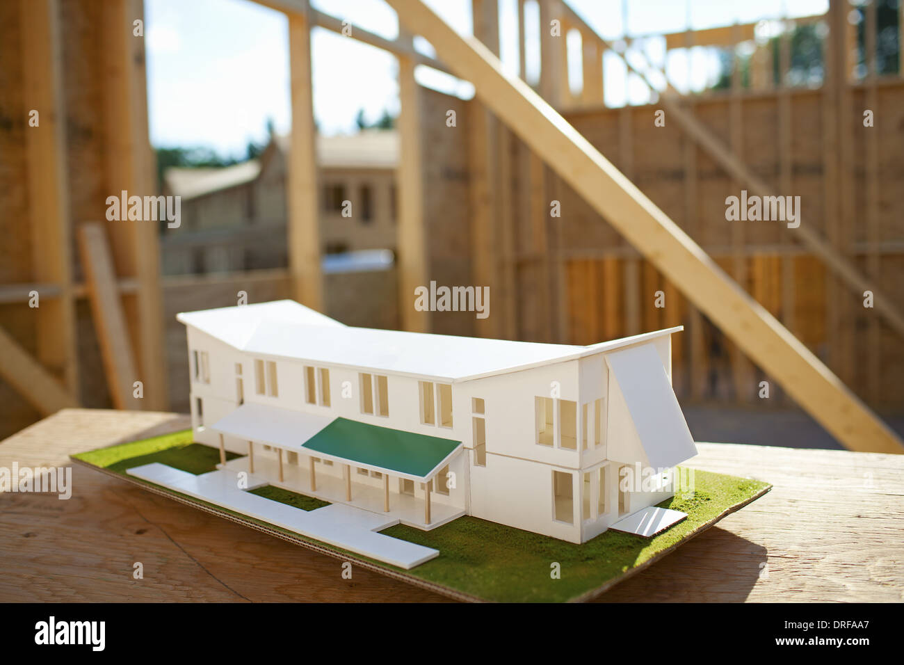 New York state USA house being built rural New York State USA - Stock Image