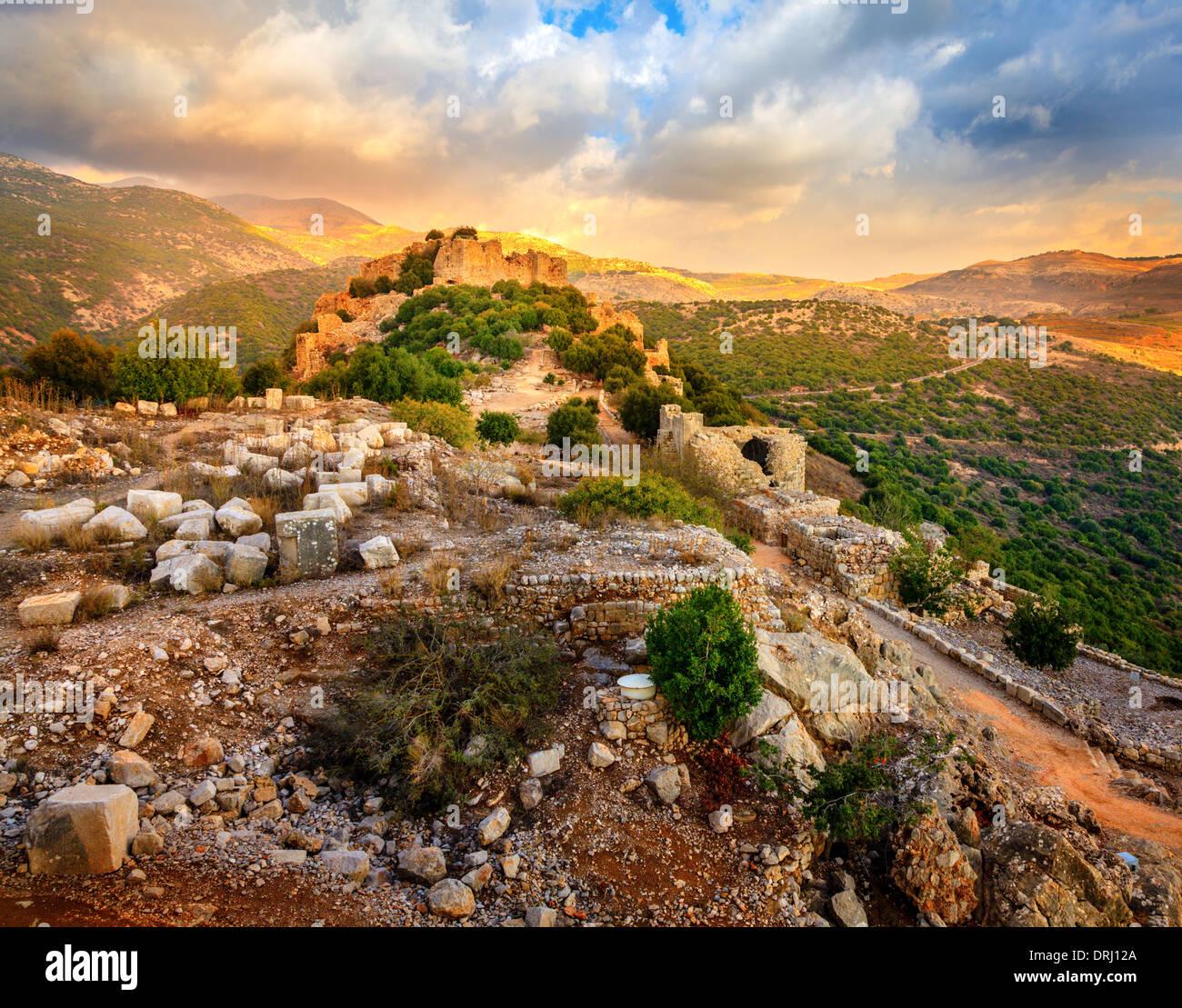 Castle Nimrod in Israel - Stock Image