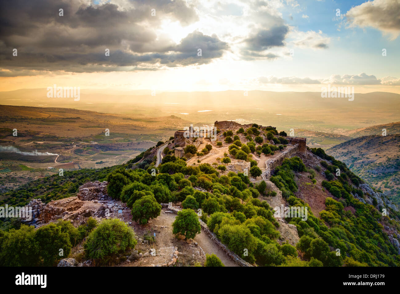 Fortress Nimrod in Israel - Stock Image
