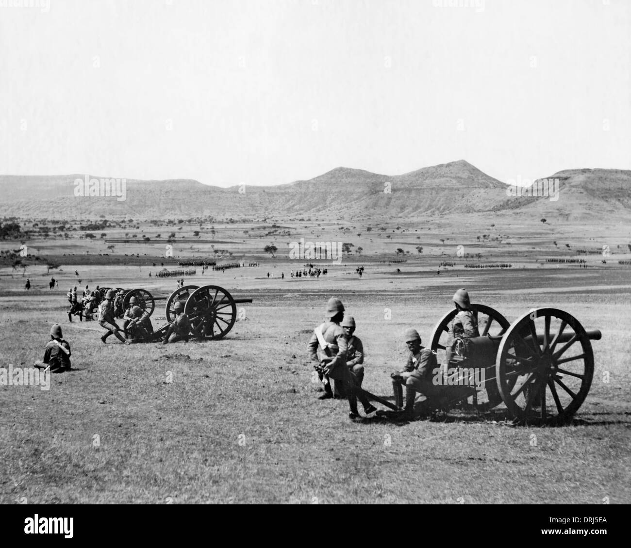 Artillery exercise, India - Stock Image