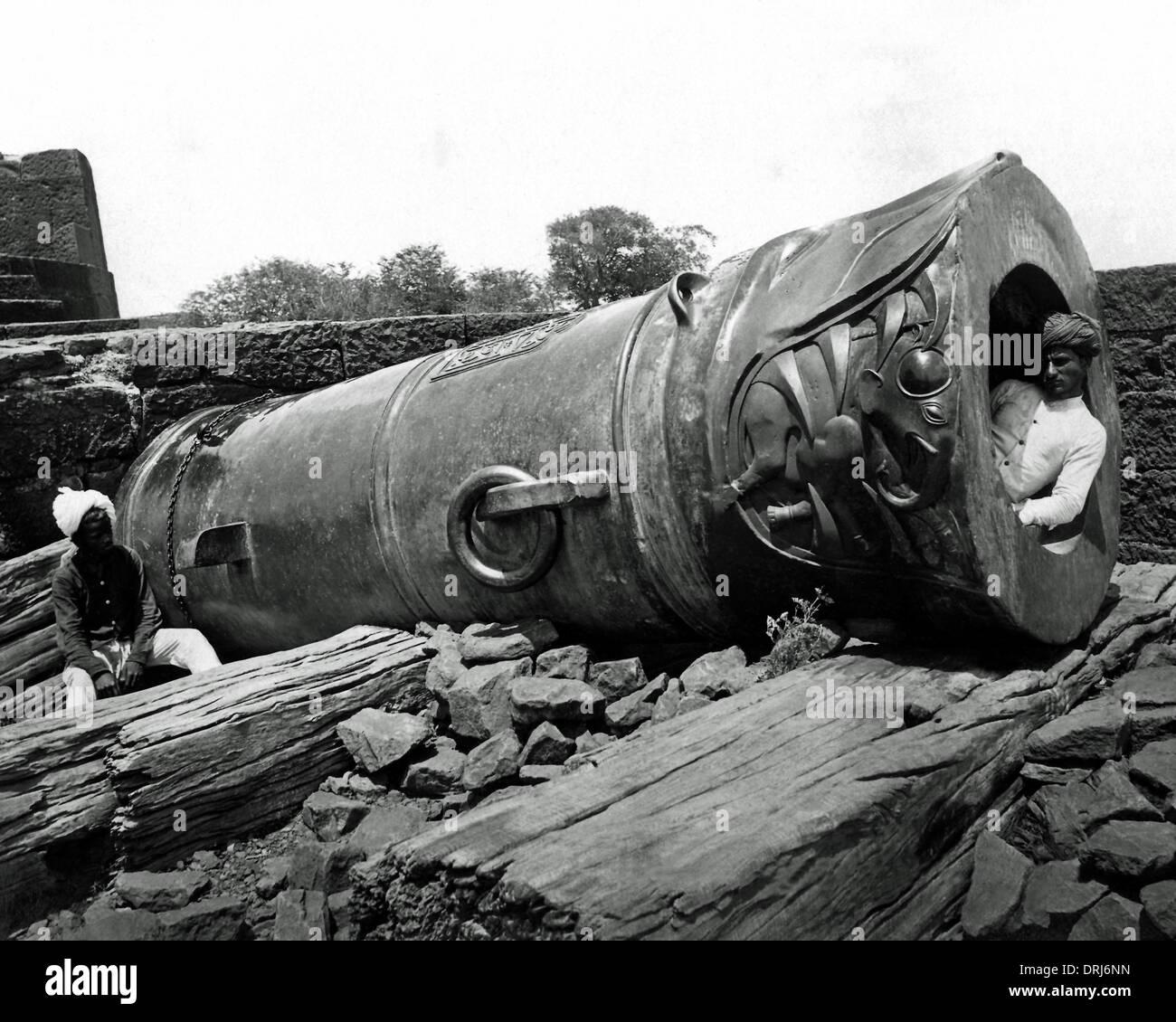 Monster Gun of Tanjore, Tamil Nadu, India - Stock Image