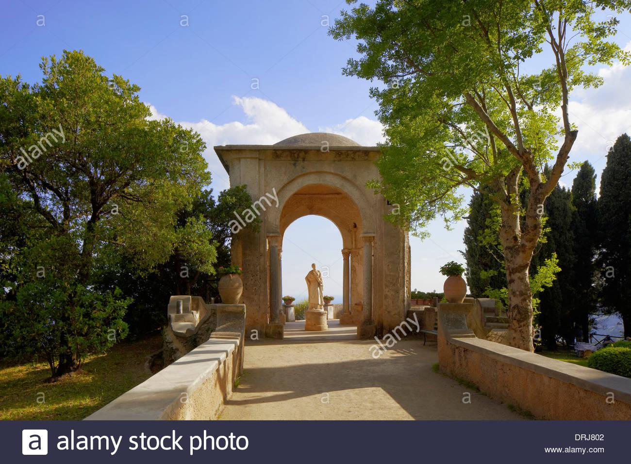 the gardens of villa cimbrone, ravello, campania, italy, europe ...