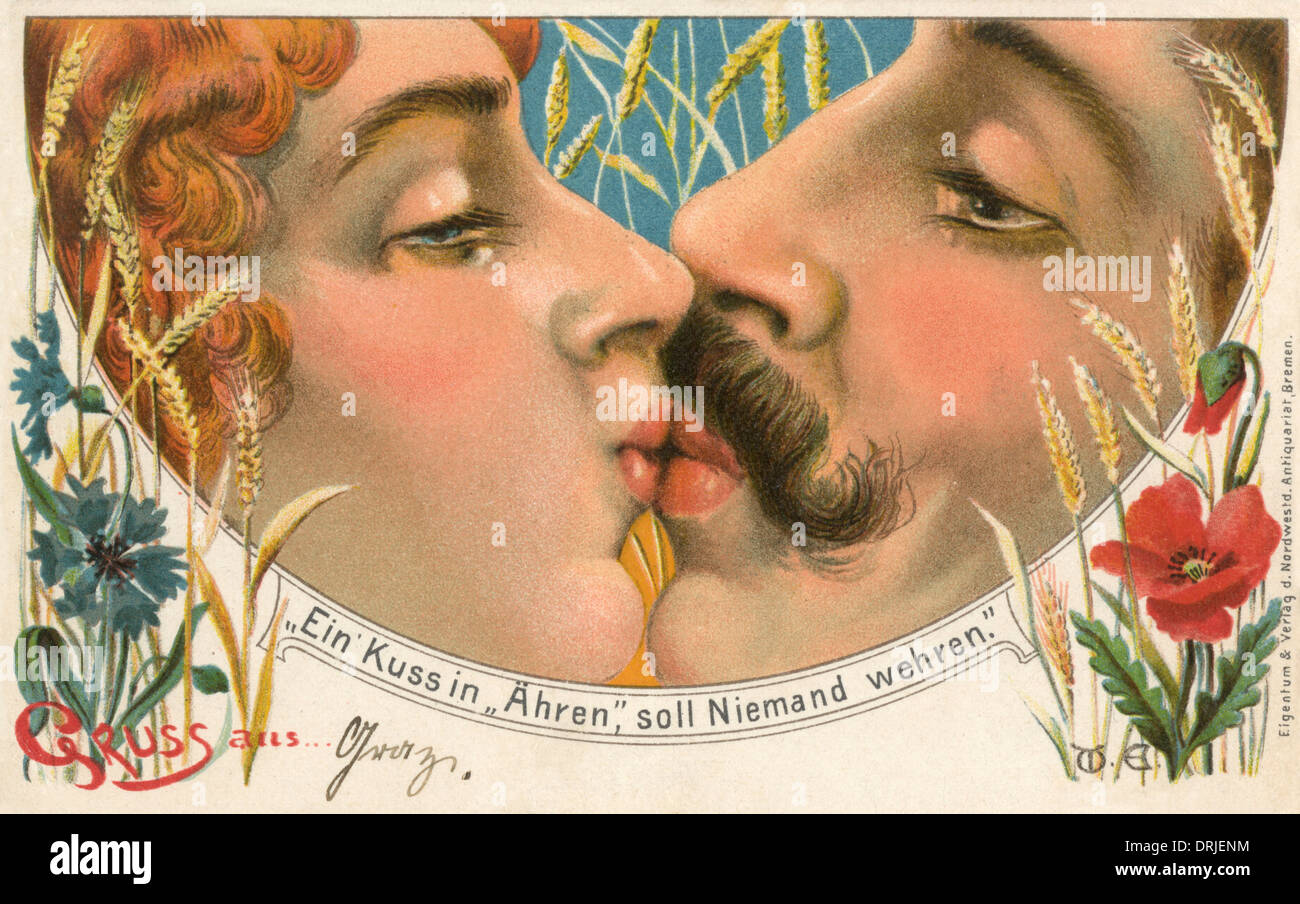 No one can refuse an Honourable Kiss - Stock Image