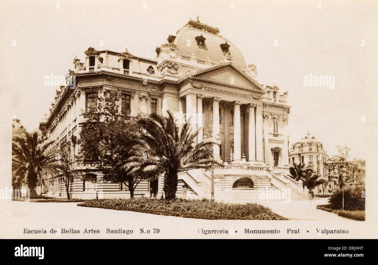 Santiago, Chile - School of Fine Arts - Stock Image