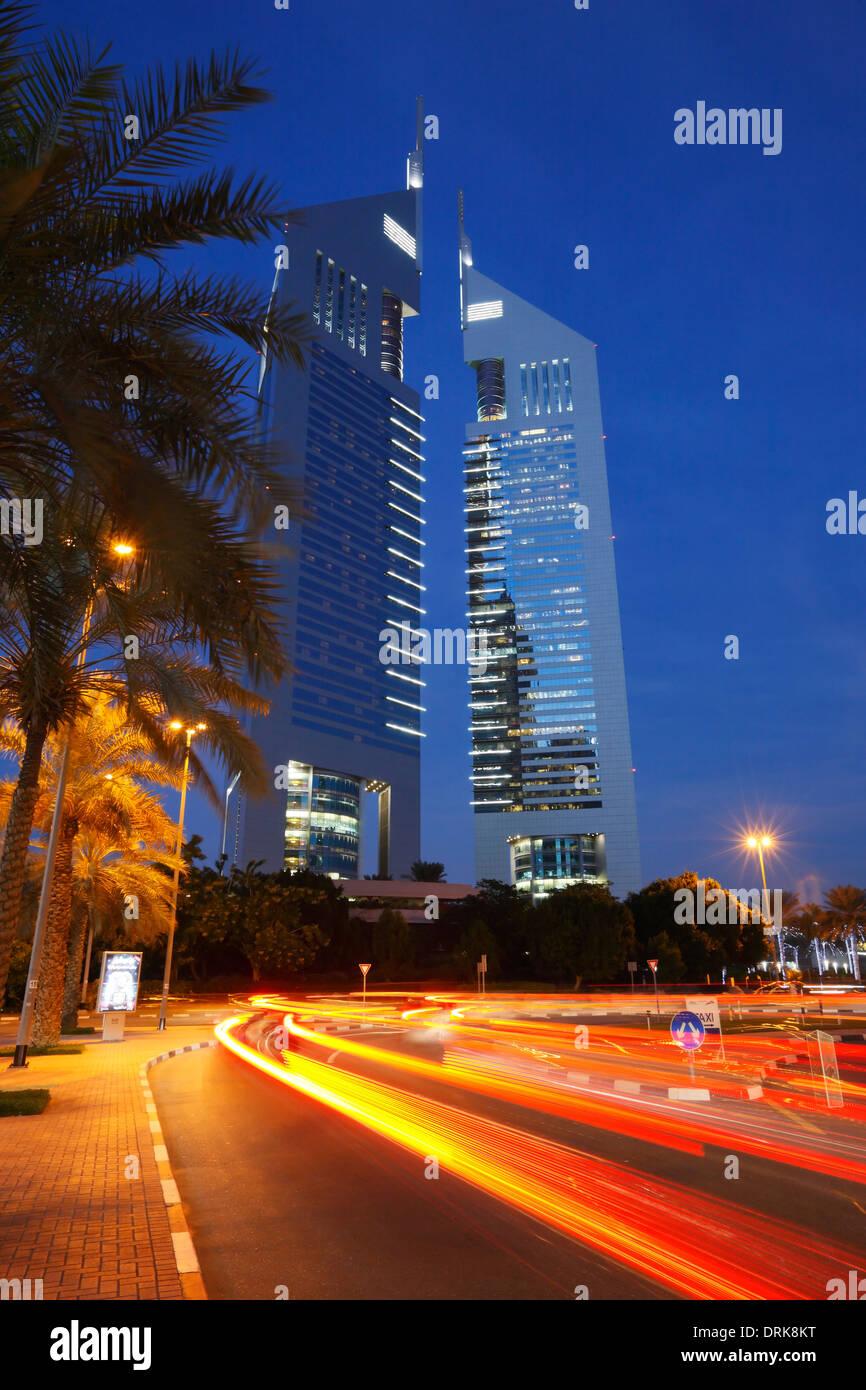 The Emirates Towers, Dubai, United Arab Emirates. - Stock Image