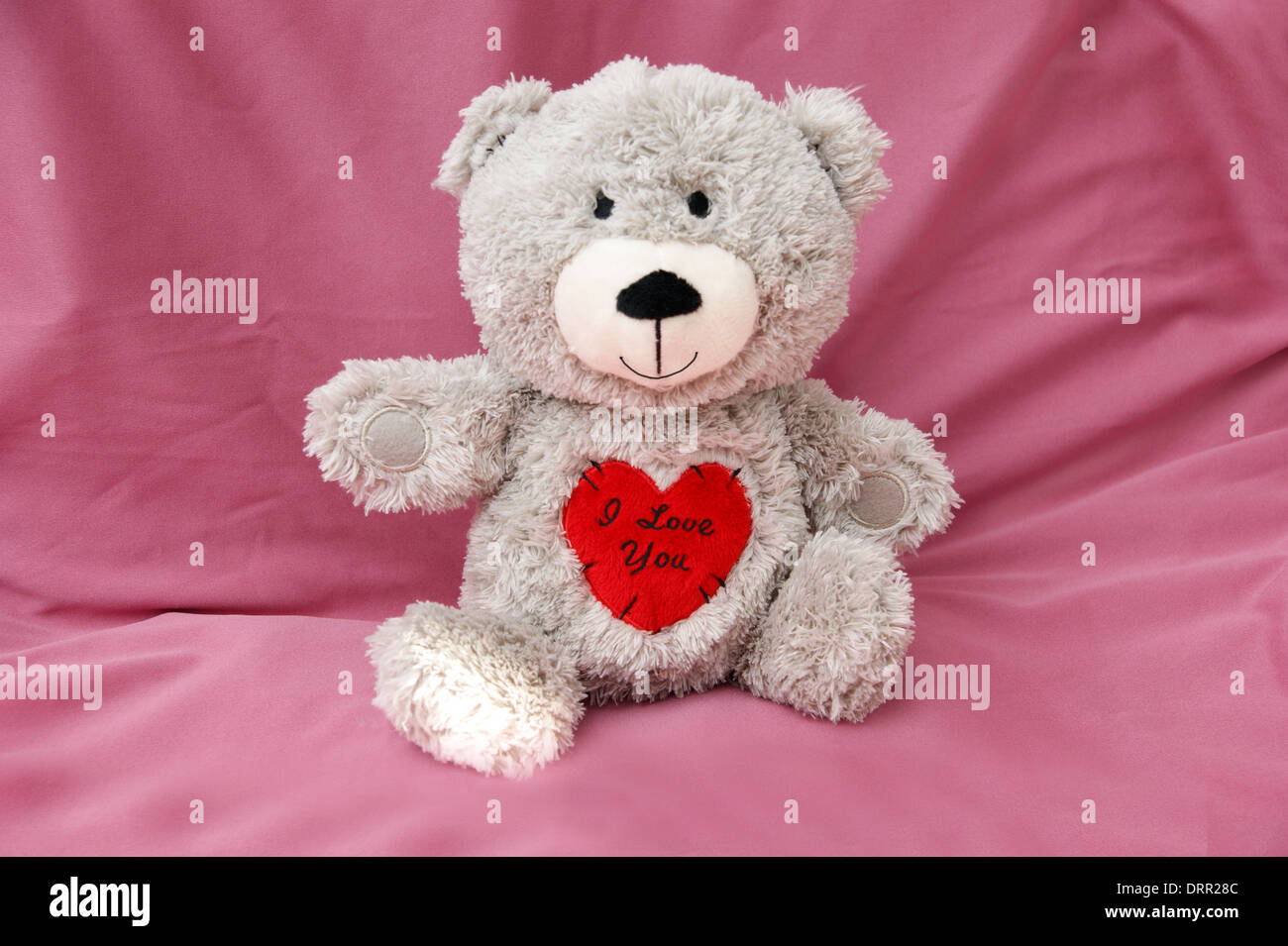 Valentines day teddy bear with a heart saying i love you stock valentines day teddy bear with a heart saying i love you altavistaventures Images