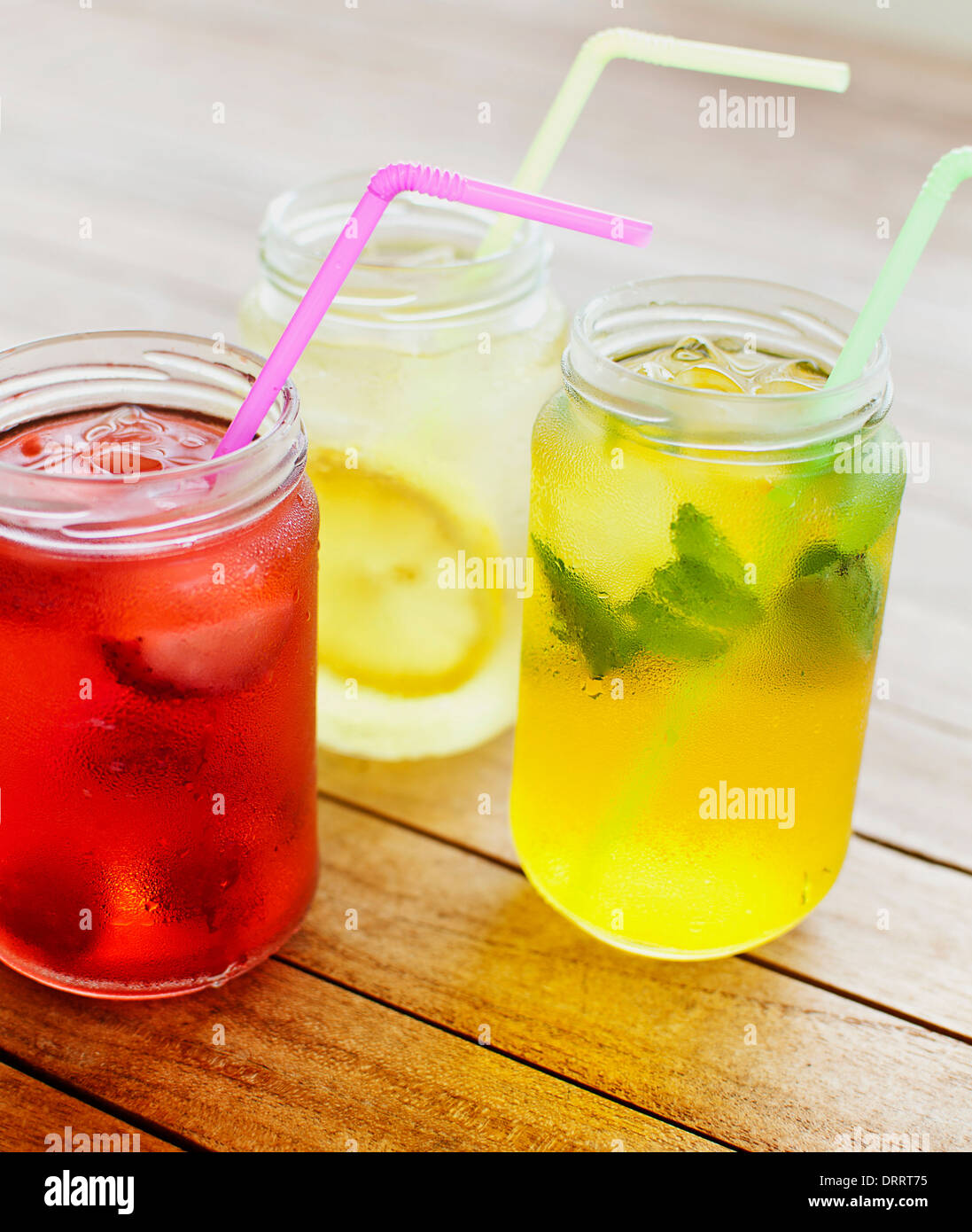Fruit beverages - Stock Image