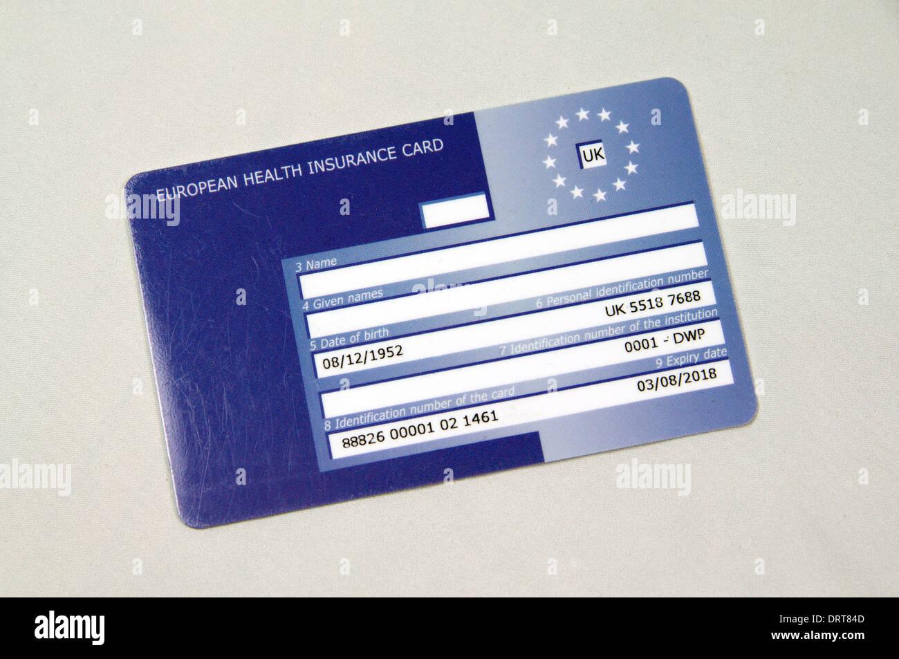 European Health Insurance Card. Stock Photo