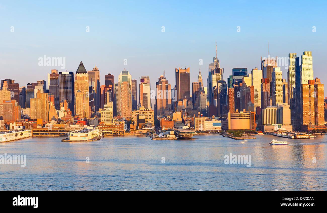 Manhattan Skyline - Stock Image