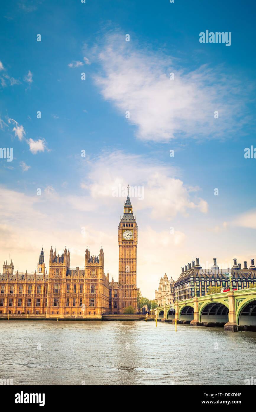 CLouds over Big Ben - Stock Image