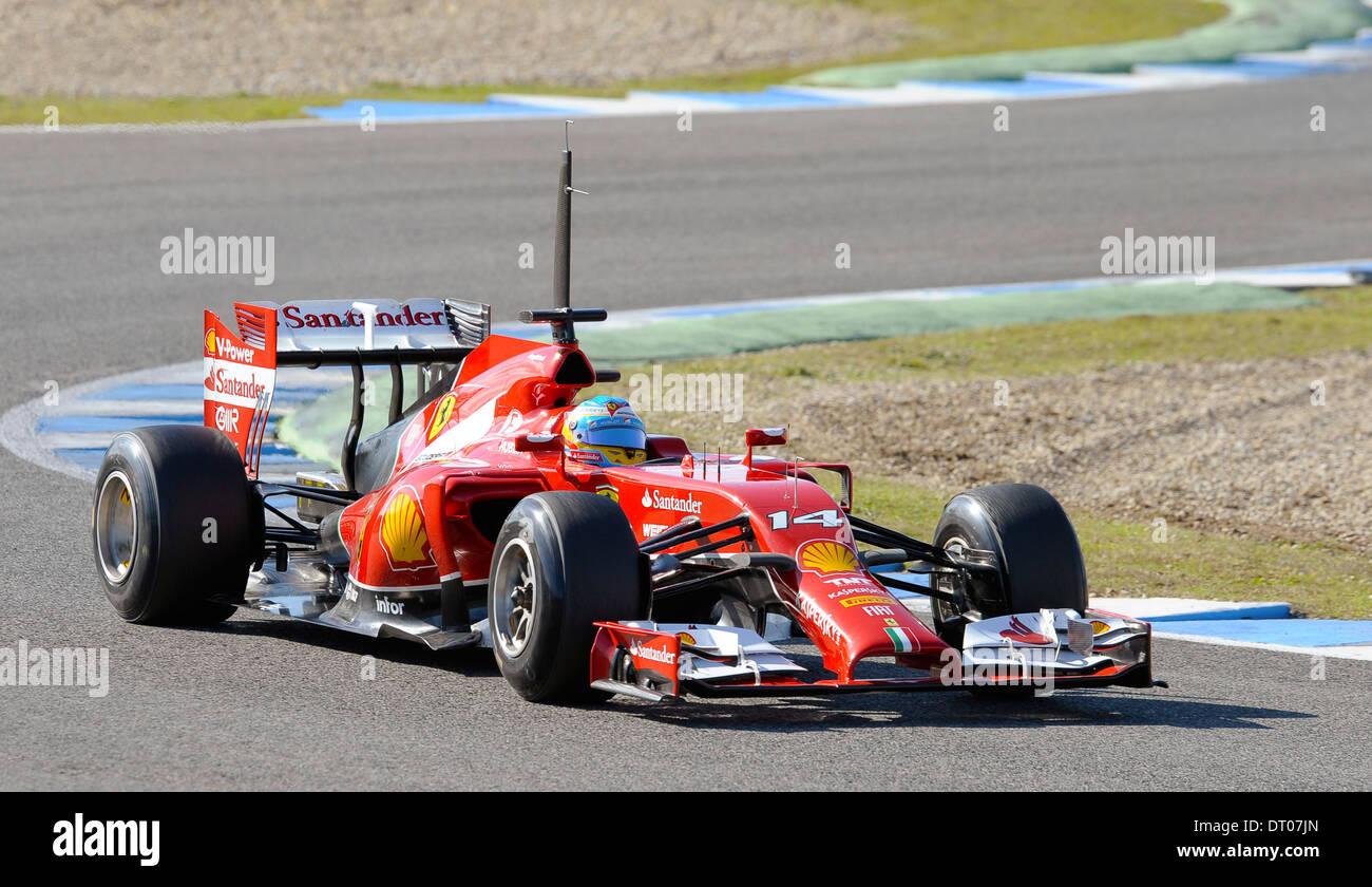 Fernando Alonso (ITA), Ferrari F14 T during Formula One Tests, Jerez ...