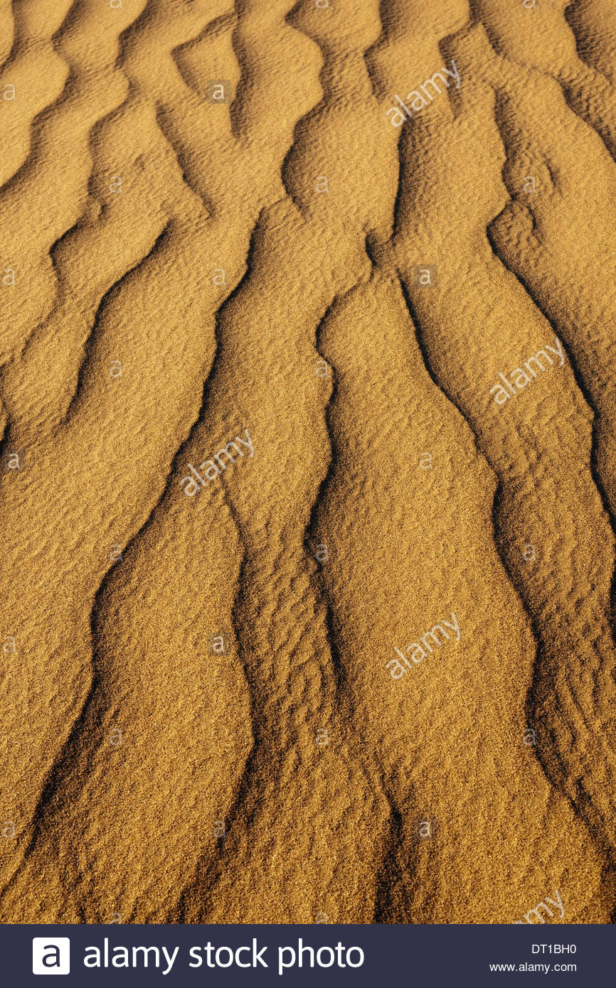Namib-Naukluft National Park Namibia Sand dune patterns Namib-Naukluft National Park - Stock Image
