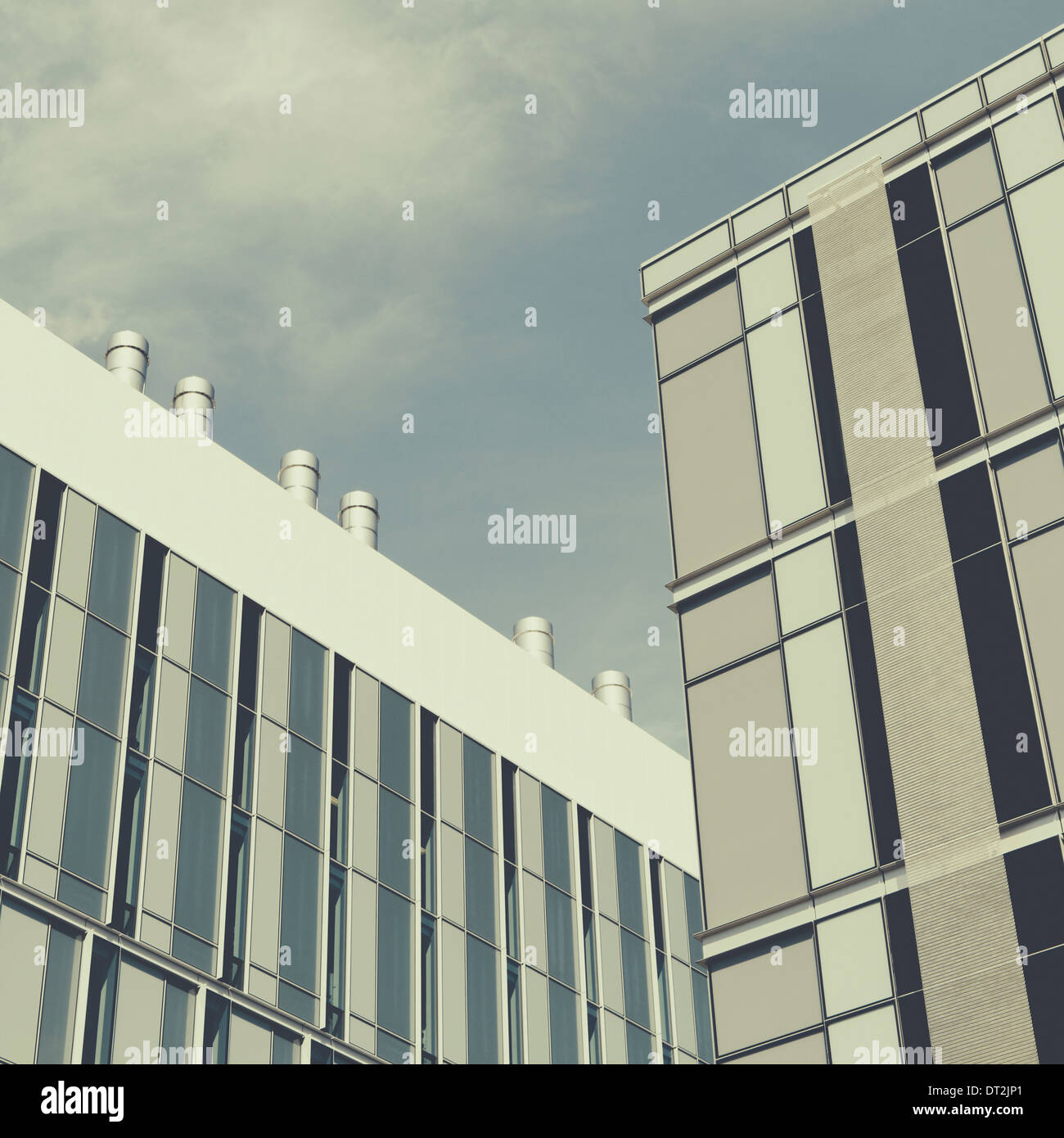 Tall modern buildings in the city of Seattle Modern architectural style and building materials - Stock Image