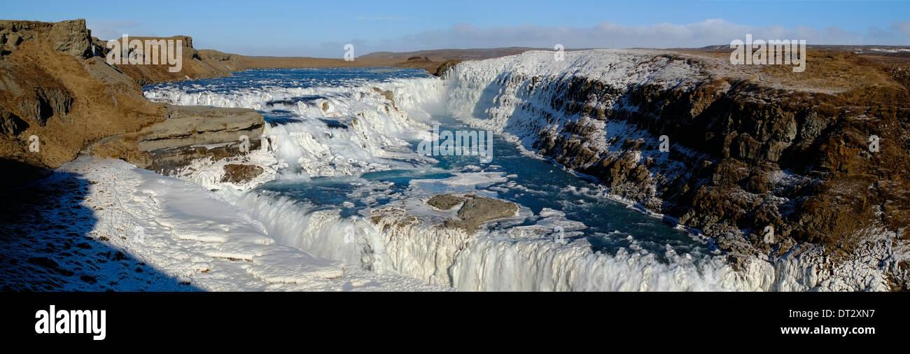 Gullfoss Waterfall, Polar Region, Iceland - Stock Image