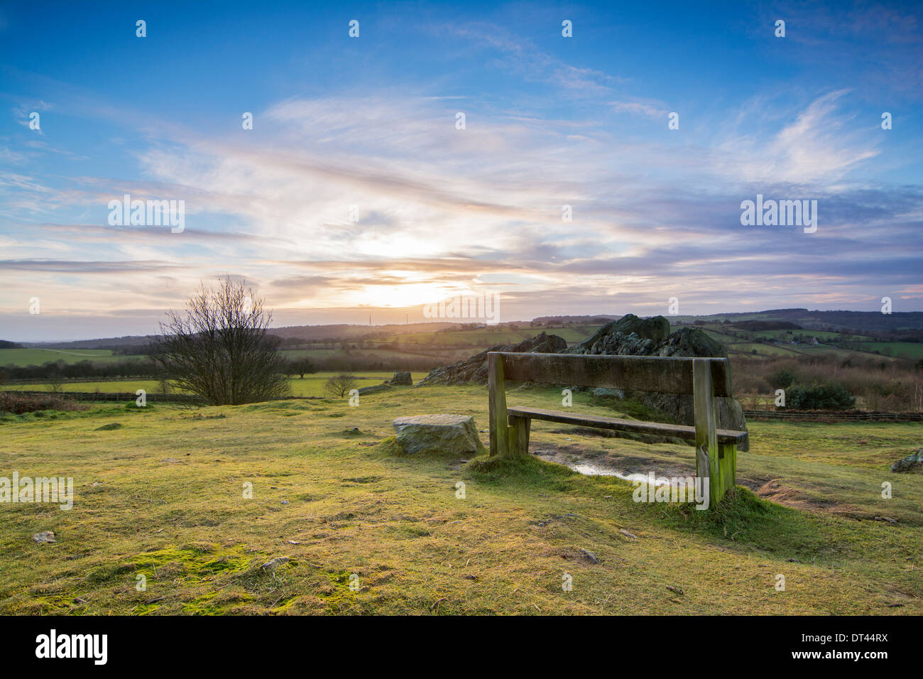 Warm Sunset in Leciestershire. - Stock Image