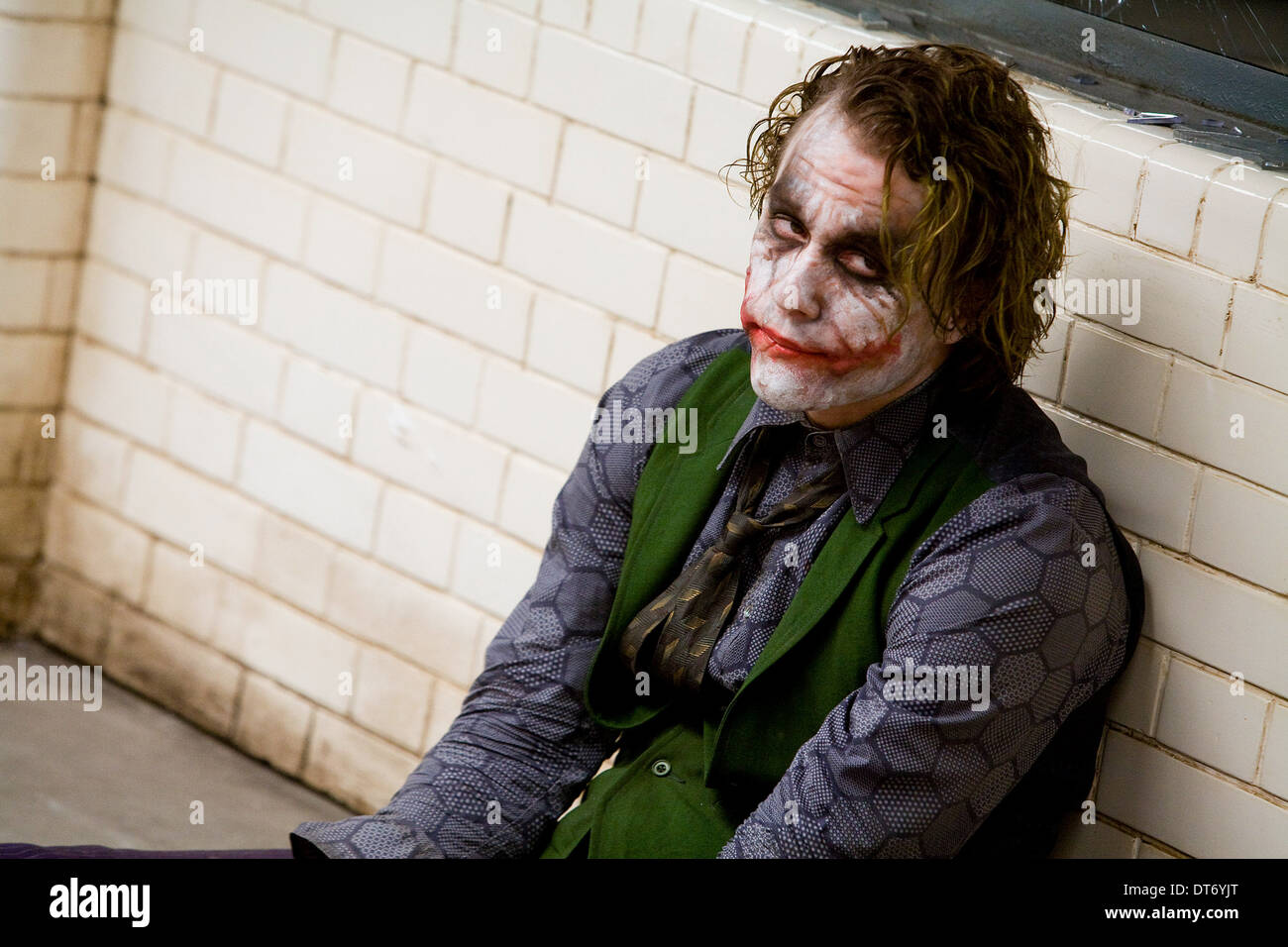 HEATH LEDGER THE DARK KNIGHT (2008) Stock Photo