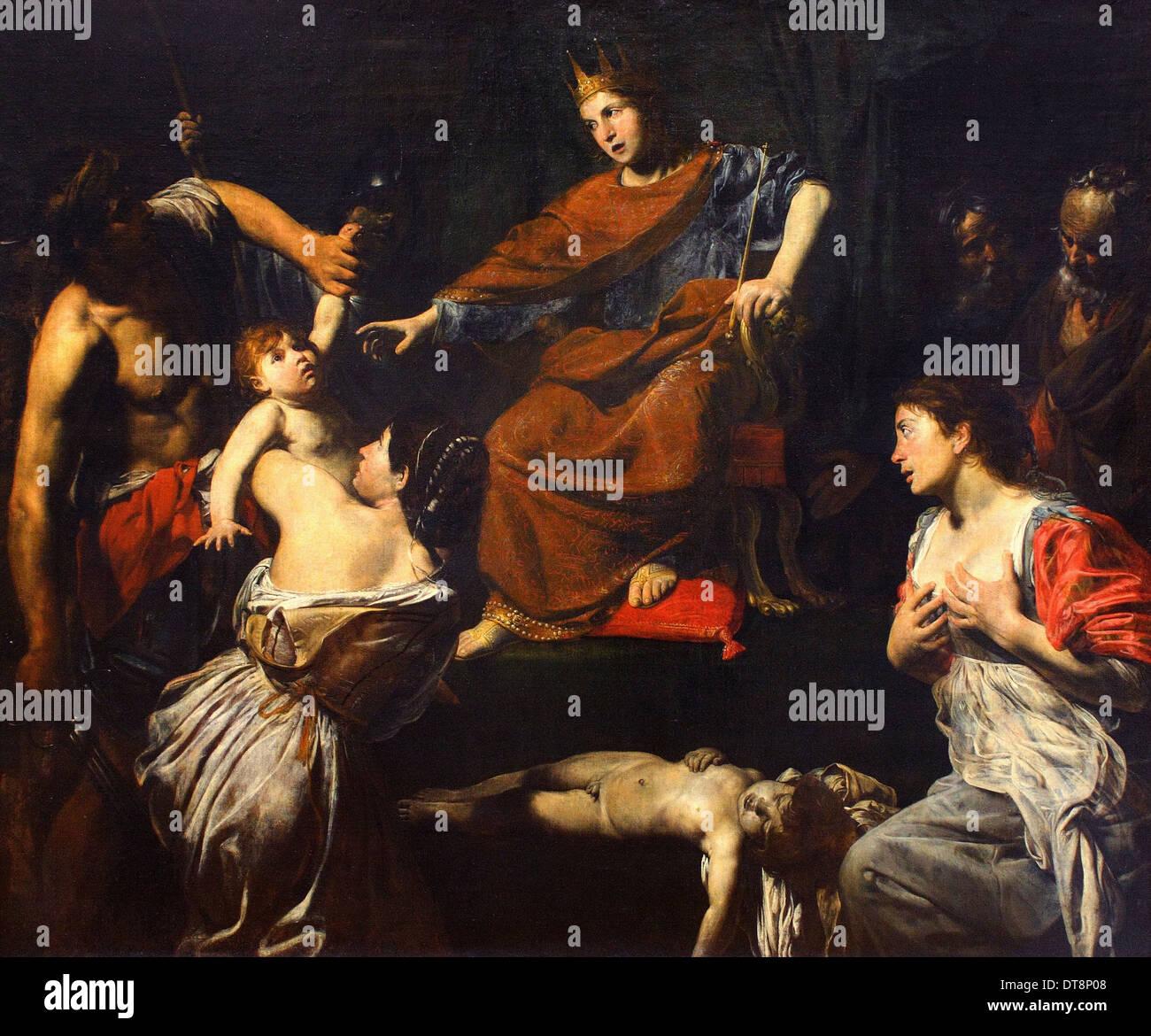 Valentin de Boulogne aka The Valentin - The Judgment of Solomon - circa 1625 - Louvre Museum - Paris - Stock Image