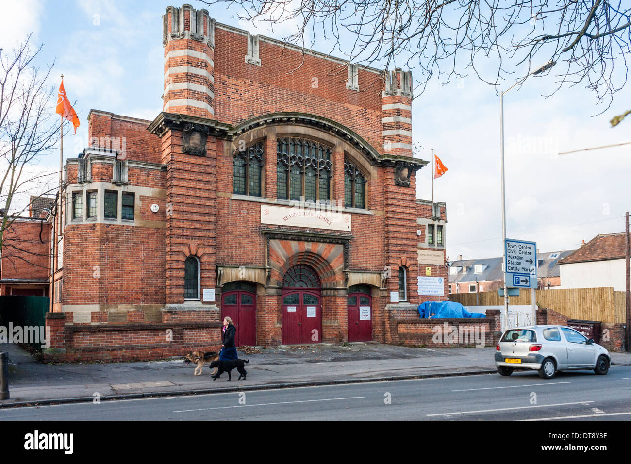 Former church converted for use as a Hindu Temple, Reading, Berkshire, England, GB, UK. Stock Photo